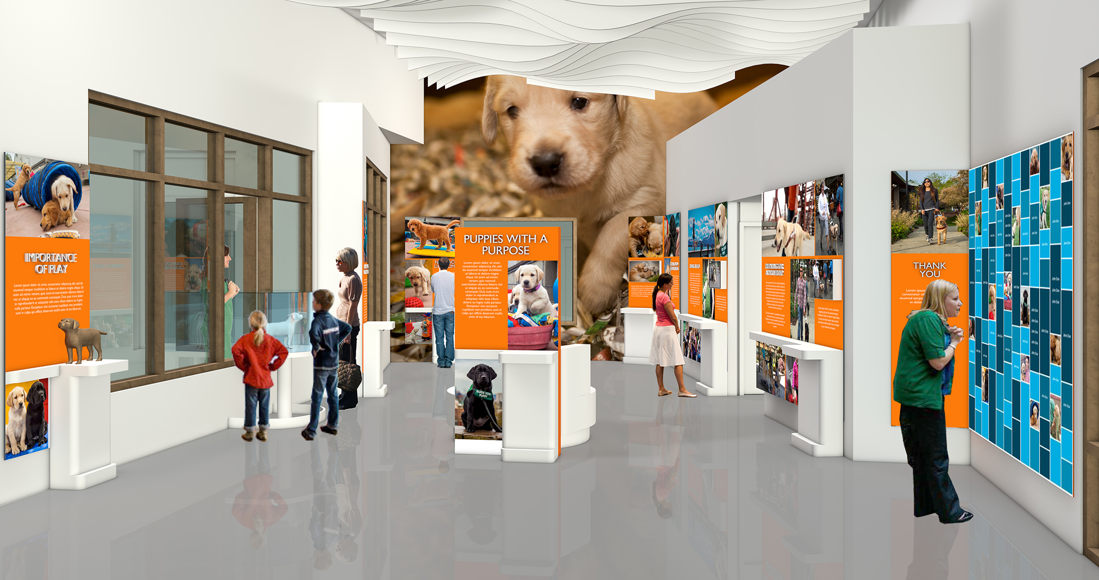 An architect's rendering of the Learning Lab.
