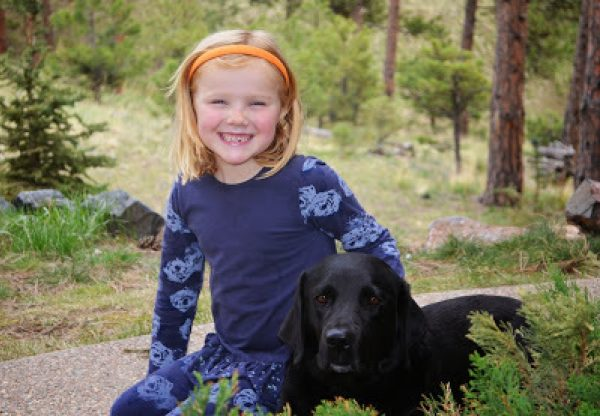 Claire with her K9 Buddy, Bluebell.